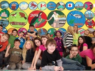 世界の子どもたちが描くアートマイル壁画で「オリンピック展」