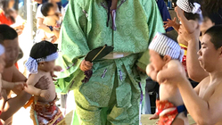 加古川に新たな家族の恒例行事を!鶴林寺で「泣き相撲奉納」開催
