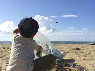 石川県片野海岸をゴミの無い綺麗な海にして次の世代に残したい!