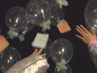 3月11日に光る風船にメッセージを託し大槌の夜空に飛ばしたい