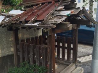 東京都大田区にある無残に壊れたお地蔵様の祠を直したい。