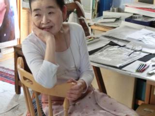 要介護になっても絵を描き続けた佐藤美智子先生の50回展を開催!