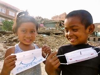 ネパールに感染症予防のためのマスクを10万枚届けます!