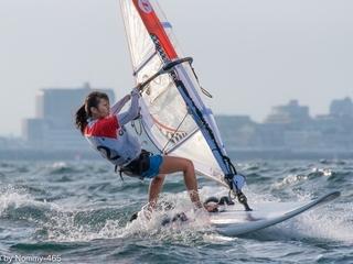 東京五輪会場の江ノ島でウインドサーフィンアジア選手権を開催