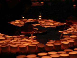 大阪府千里ニュータウンに人口と同数の9万個のあかりを灯したい