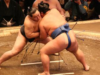 福岡県に力士・高見劉を招待!本物の力士と子どもの相撲対決を!