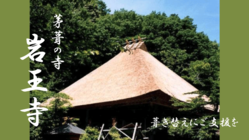 京都 岩王寺|京都府登録文化財「かやぶきの山寺」葺き替えにご支援を