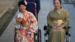 車椅子ユーザーも着物を着たい。セパレート式の着物を制作へ!