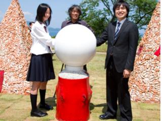 福井県小浜公園山頂にあるオブジェ「地球と握手」を再生したい!