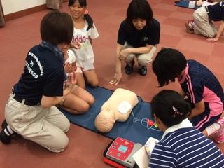 大切な命を守るため、子どもたちに向けた救命講習会を開催!