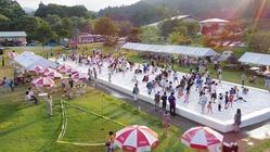 山形県中津川で30年続く「真夏の雪祭り」で地区ににぎわいを!
