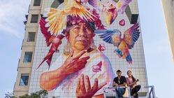 広島・メキシコの友好関係を象徴する記念壁画の制作