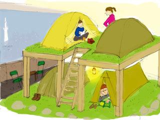 日本初の泊まれる登山用品店のキャンプ場をもっと拡張したい!