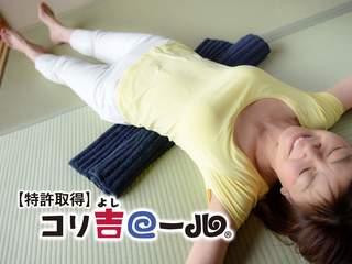 形状自由自在!洗濯・持ち運び可能な理想の枕「コリ吉ロール」