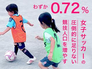 無料のサッカーボール配布イベントで、女子サッカーを文化に。