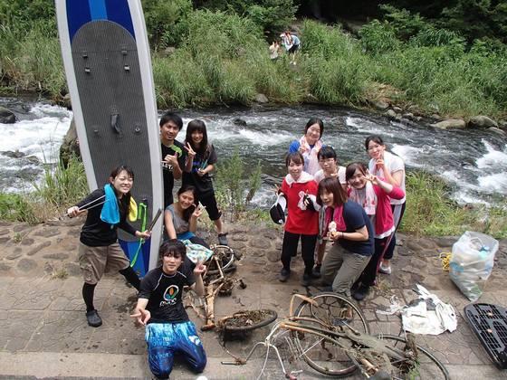 アウトドア+清掃活動!SUPボードで大場川のゴミ拾いをします!