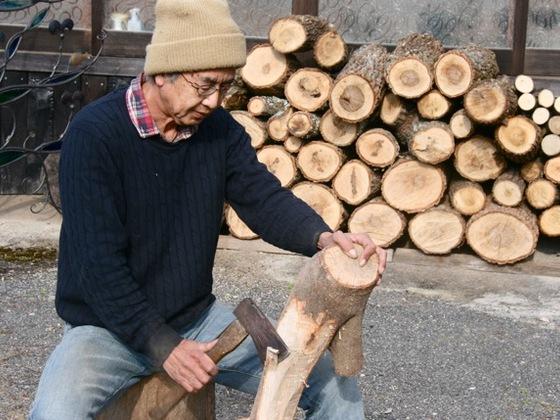 山の木のアートを見て、触って、感じてもらえる展示会をしたい。
