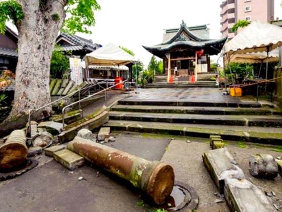 熊本地震で被災した神社をハッピーに!はっぴ小物で復興支援