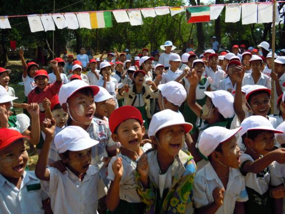 体育の授業がないミャンマーの子供たちに「運動会」を贈りたい!
