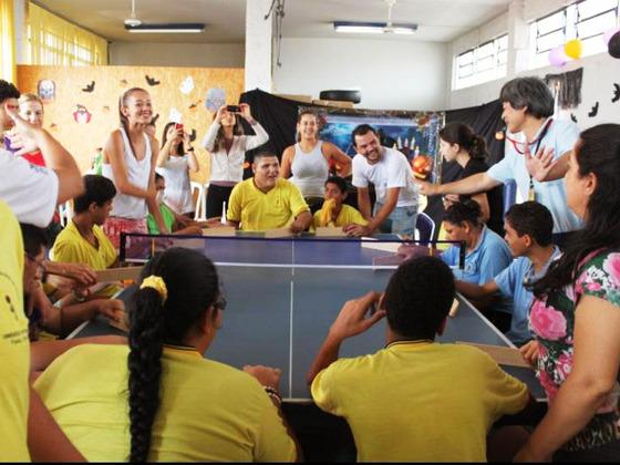 障がい者も楽しめるスポーツ、卓球バレーをブラジルで広めたい!