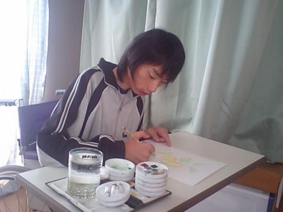 初の東京個展!筋力が低下するまで描き続けた水彩画で癒しを