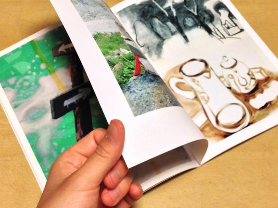 若手現代美術家によるアートブックを制作します