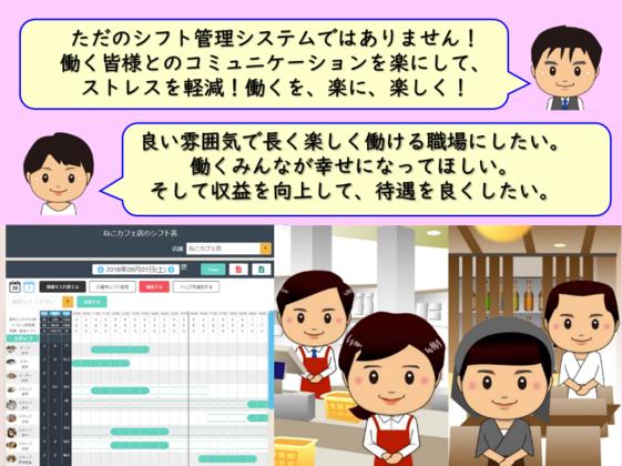 WEB上で一括管理。働くを楽にする店舗運営支援システム