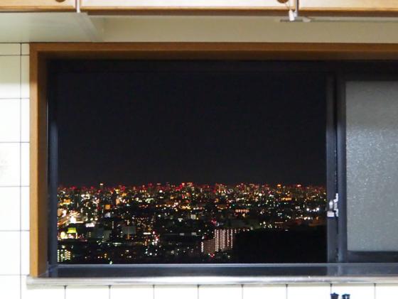 大阪の夜景をでっかく観えるよう窓を大きくしたい
