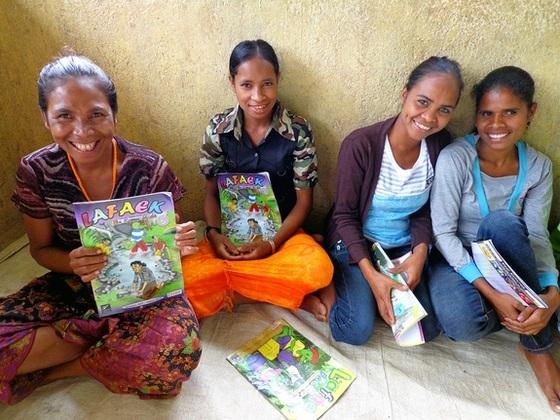 情報から隔絶された東ティモールの人々に、学習雑誌を届けたい!