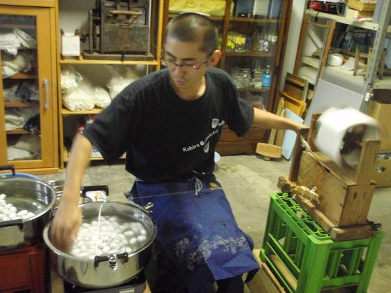南相馬市小高区の浮舟の里に行き昔ながらの糸作りを伝えたい!
