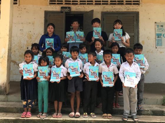 カンボジア農村部の小学生に1人1冊の算数ドリルを配布したい!