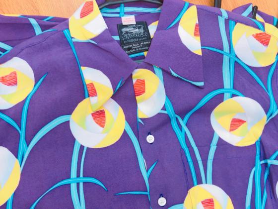 ハワイのメーカーとコラボして製作した和柄友好親善アロハシャツ