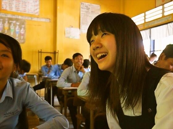 徳島とカンボジアの高校生の商品開発を描いた映画続編を作成!