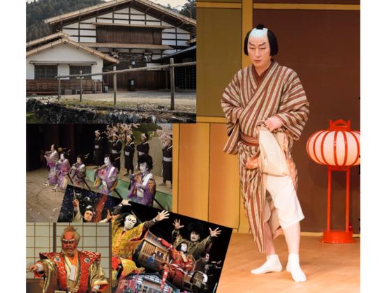 岐阜県の歴史的芝居小屋「かしも明治座」125周年記念鹿芝居