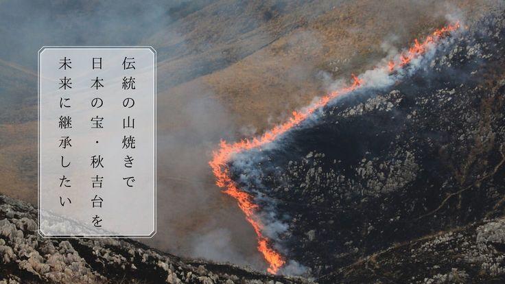 山口県美祢市秋吉台。魅力を守る伝統行事「山焼き」を続けたい。