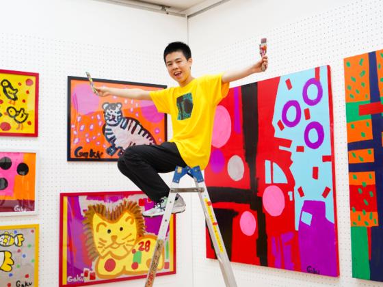自閉症の子どもたちに、世界へのアートの扉を開きたい。