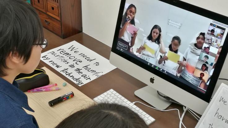 外国の学校と手軽にオンライン合同授業ができる仕組みを作ろう!