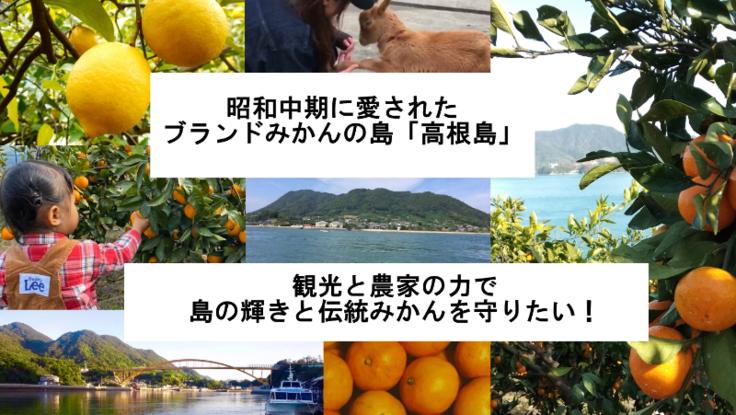 しまなみ海道の柑橘の島を体験型観光農園で盛り上げたい!