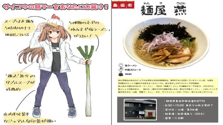 静岡の有名ラーメン屋100店舗を「擬人化した図鑑」を作りたい