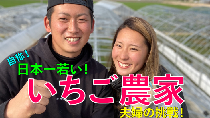新規就農『いちご農家』20歳と24歳の夫婦がいちごに挑戦!
