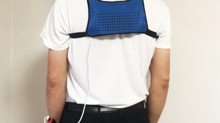 軽量かつ体のどこにでも装着可能な特許登録された冷房装置