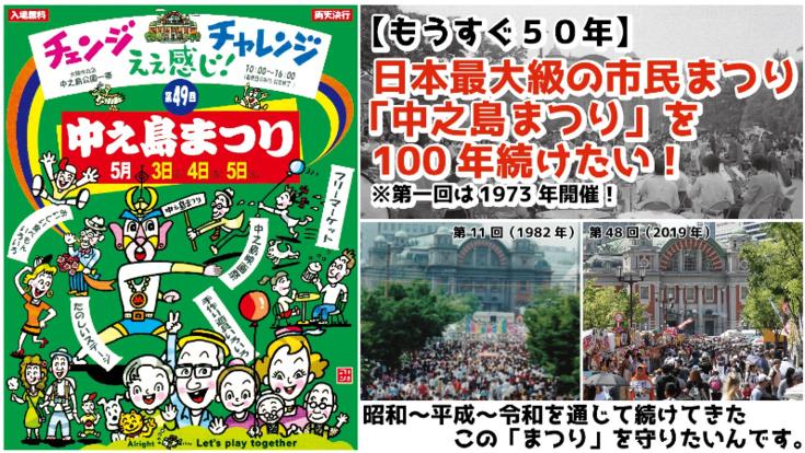 日本最大級の市民まつり「中之島まつり」を 100 年続けたい