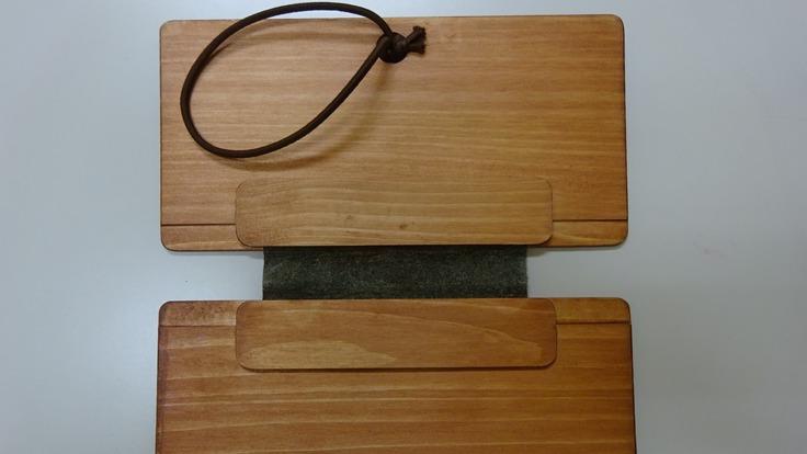 木製(檜)抗菌マスク・ハンカチホルダ-