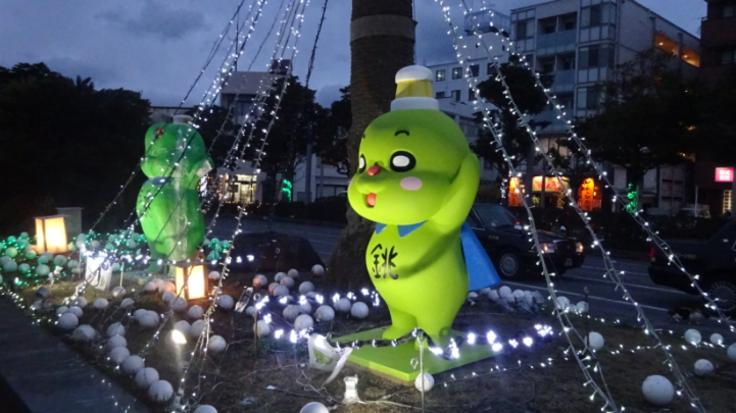 銚子駅前イルミネーション点灯大作戦!