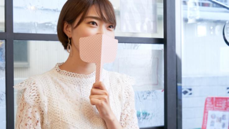 紙製「麻呂マスク」を使ってニューノーマルな外食習慣。