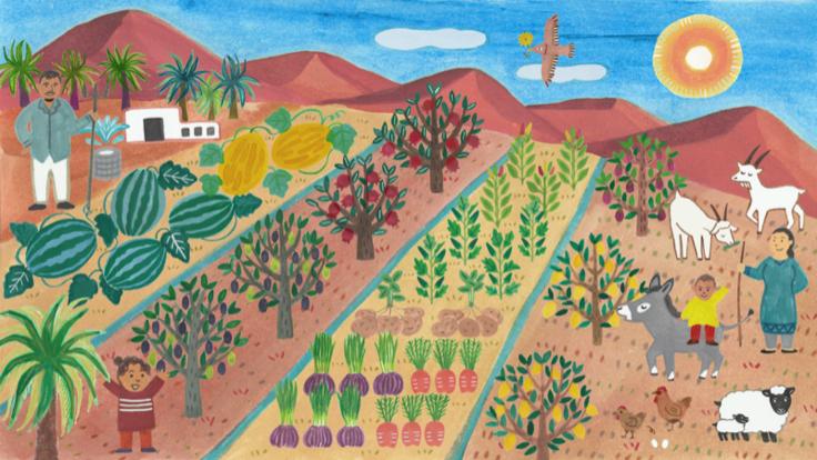 モロッコのサハラ砂漠でベルベルの伝統農法を用いたエコファームを造る