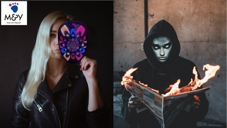 【ビックリ仰天】顔を変幻自在に変えれる変面「LEDフェイスカバー」