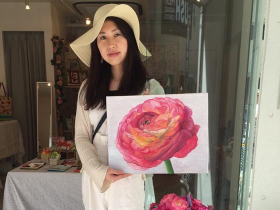 画家として初めての広島の百貨店展示がしたい☆