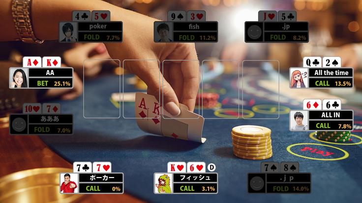 ポーカーハンド配信システムの開発!