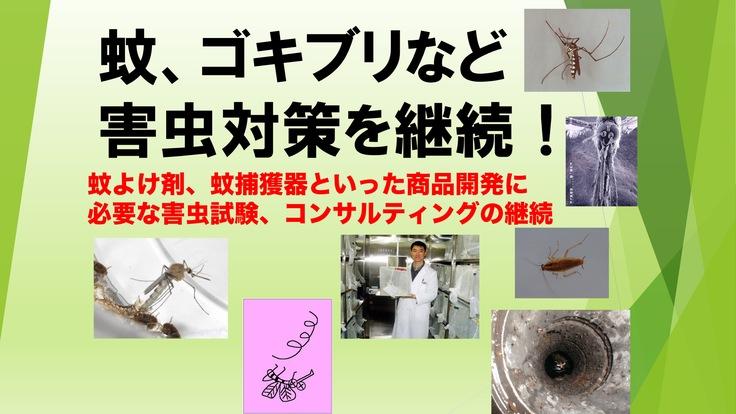 蚊、ゴキブリなどの衛生・不快害虫対策やコンサルティングを継続!